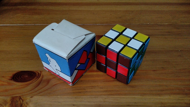 Vintage USSR Rubik's Cube in Box 1980's from Omsk  image 0