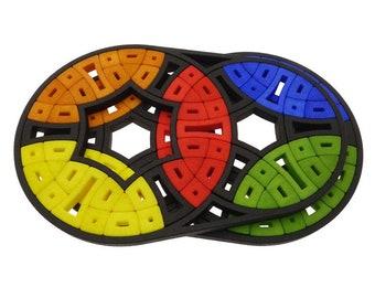 Oskar Double Weird - Intersecting Circles (rare hand made SLS puzzle similar to Rubik's Cube 3x3x3 and Pyraminx)