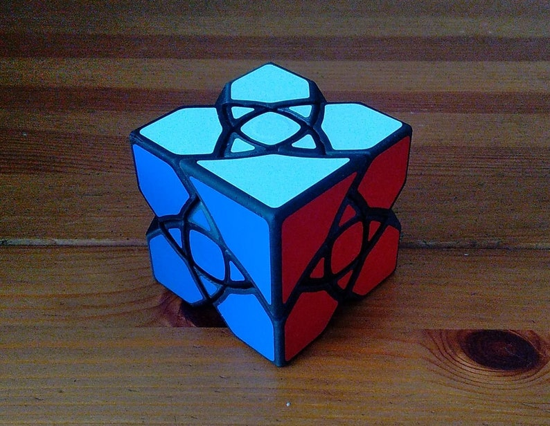 Curvy Confusion Cube by Adam Ford rare hand made DLP puzzle Curvy Confusion v1