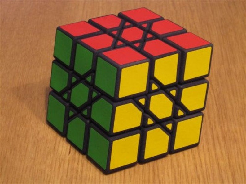 Oskar Squashed Cube rare hand made SLS puzzle similar to image 0