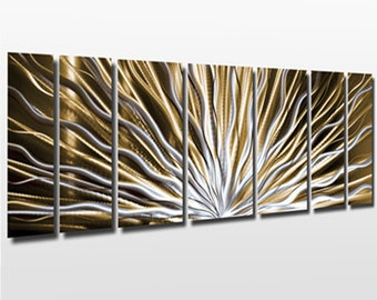 Modern Large Abstract Metal Wall Art Color Changing Led