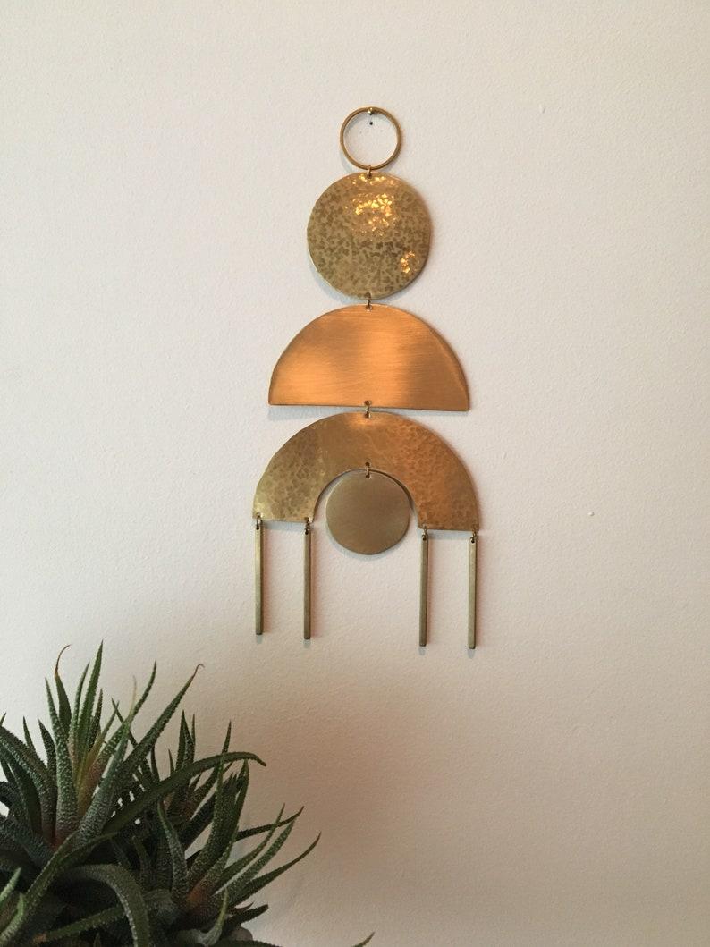 No. 3 Brass Wall Hanging image 0