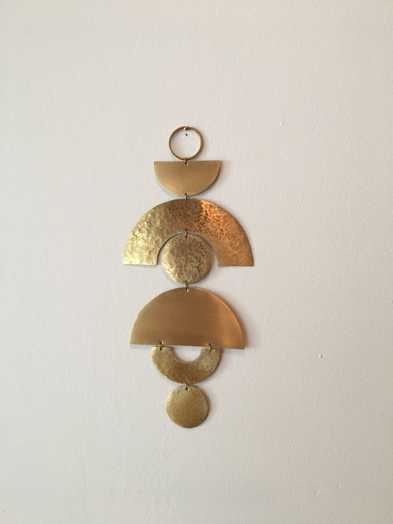 No. 4 Brass Wall Hanging image 0