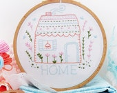 Embroidery Pattern, Instant Download, Needlecraft Design - Home Sweet Home
