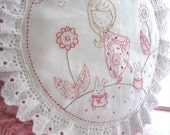 Embroidery Pattern, PDF Pattern, Instant Download - Girl and 2 Bunnies