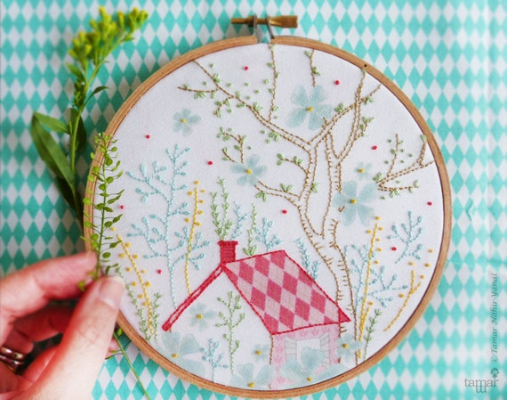 Embroidery Wall Art House Warming Gift Christmas Gift For Her Etsy