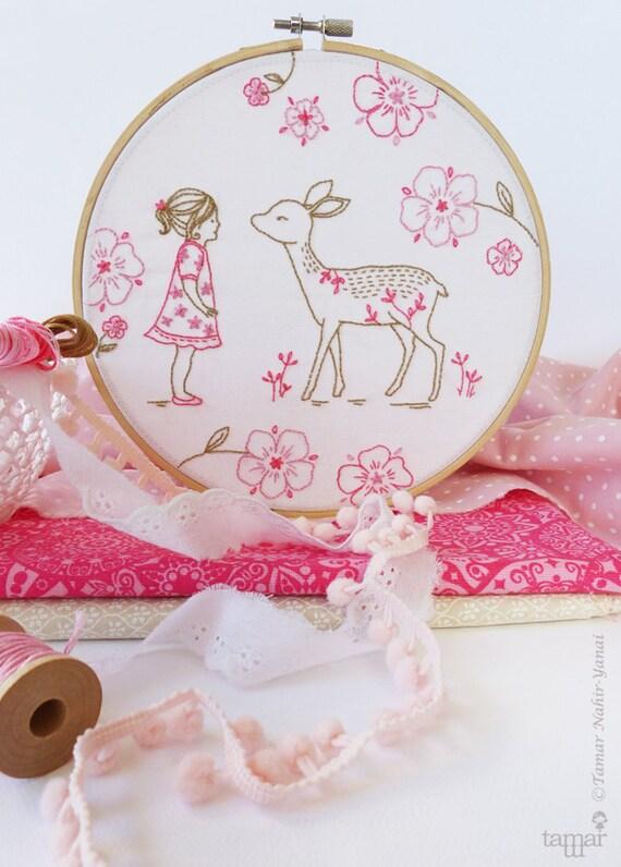 d430a3f5faac Bambi Girl Deer baby embroidery Deer girl Christmas gift