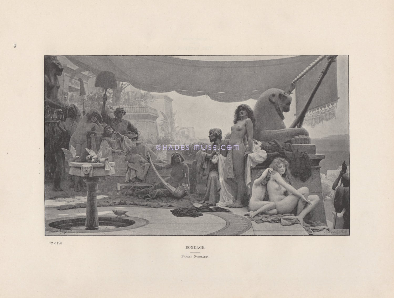 Despair-Woman In Bondage-Nude-Naked Beautiful Women-Ancient  Etsy-3708
