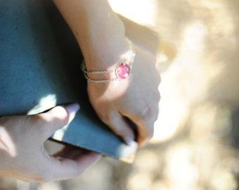 Red Bracelet - Daisy Bracelet - Flower Bracelet - Art Jewelry - Handmade Bracelet - Designer Bracelet (0-30B)