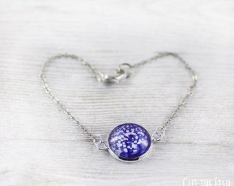 Blue Bracelet - White Bracelet - Bracelet - Fashion Bracelet - Art Jewelry - Handmade Bracelet - Designer Bracelet (0-24B)