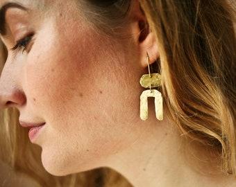 Brass/Gold Pl Earrings