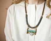 Boho Necklace, Rope Necklace, Statement Necklace, Cord Necklace, Long Necklace, OOAK Necklace, Hippie Necklace