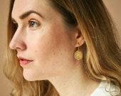 Hammered Brass Earrings, Abstract Earrings, Geometric Earrings, Brass Jewelry, Gold Earrings, Dangle Earrings, Minimal Earrings