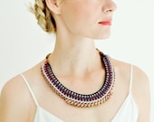 Statement Necklace, Crochet Necklace, Collar Necklace, Boho Necklace, Choker Necklace, Woven Necklace, Braided Necklace