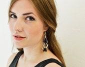 Boho Earrings, Rope Jewelry, Tribal Earrings, Patterned Hippie Chandeliers, Bohemian Jewelry, Clip On Dangle Earrings, Best Friend Gift