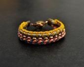 Surfer Bracelet, Hippie Style, Crochet Bracelet, Boho Bracelet, Friendship Bracelet, Woven Bracelet, Colorful Bracelet, Ibiza Jewelry,