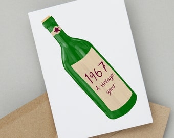 Birthday Cards By So Close A Vintage Year Personalised Card For Wine Lovers Add Any Ideal Milestone Birthdays
