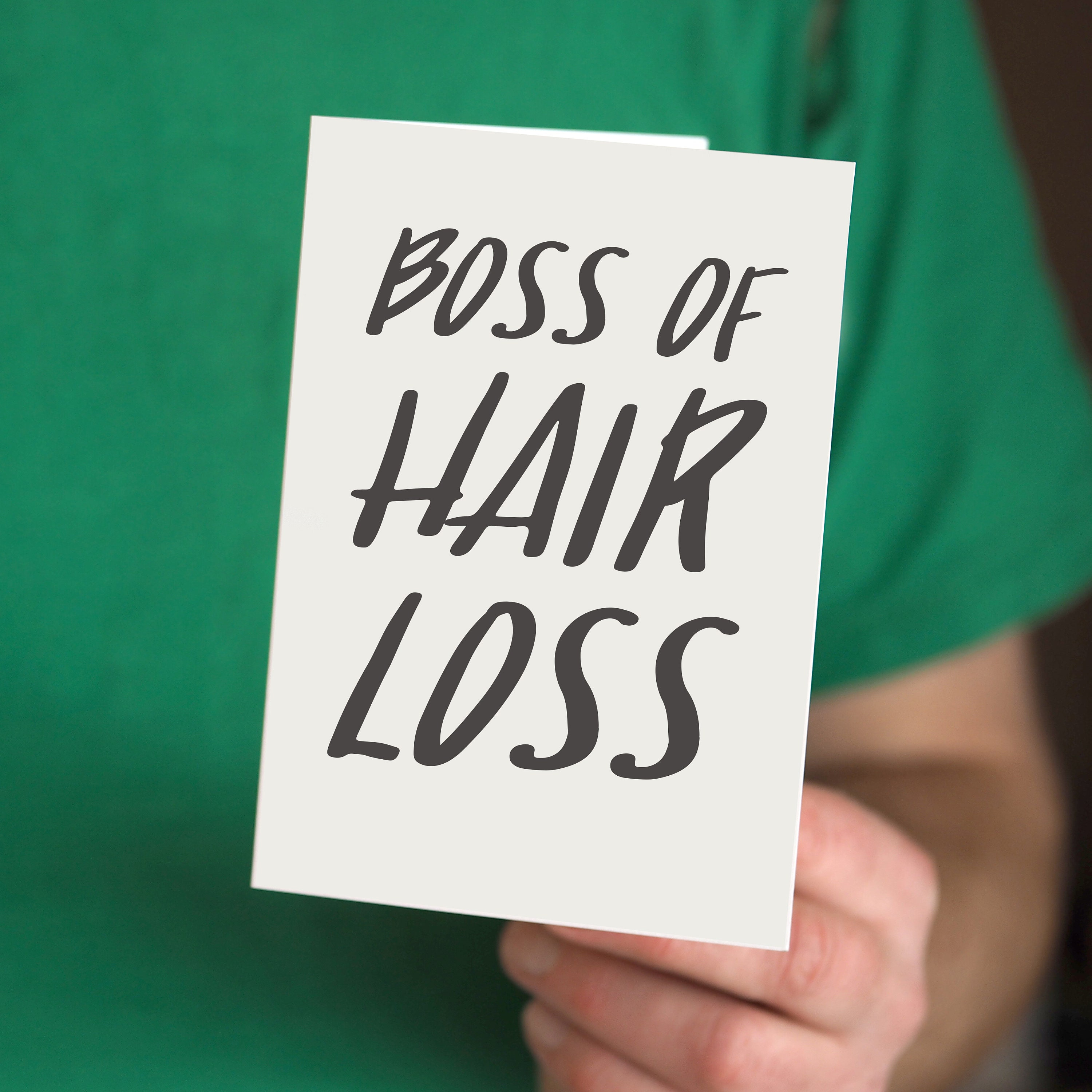 Funny Fathers Day Card Boss Of Hair Loss