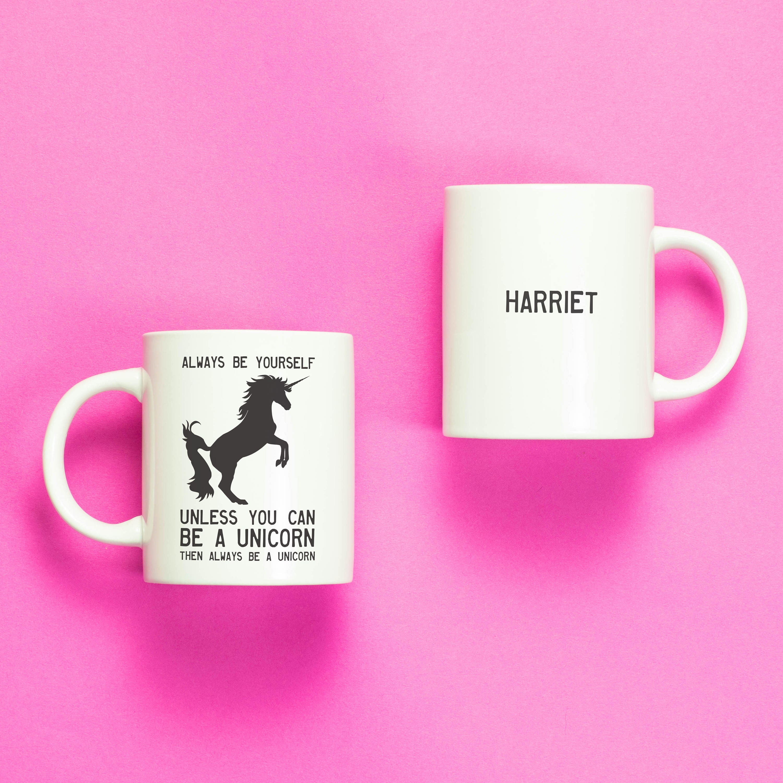 unicorn personalised mug unicorn gifts mugs sayings