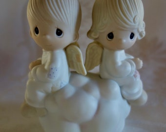 Two Angels Figurine Etsy