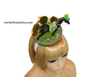 theatrical hat theatrical headpiece party hat #ivetteinfused fits 22.5 head width PEACOCK POPE unisex Pope headpiece headpiece