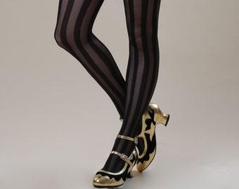 Black Stripe Tights