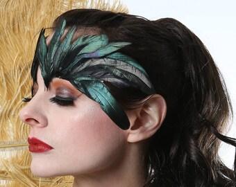 Black Feather Eyelashes