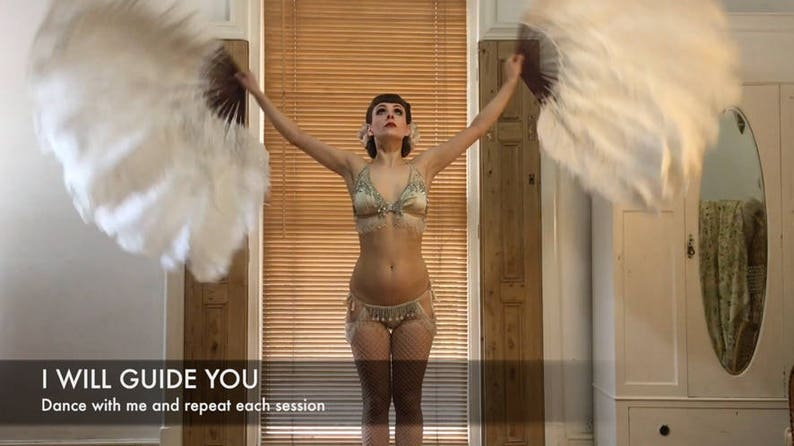How to BURLESQUE FEATHER FAN Dance: Video Tutorial image 1