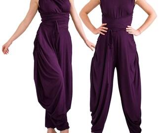 883f7350782a Women loose jumpsuit  Baggy jumpsuit  Loose jumpsuit  Plus size jumpsuit  Wide  leg jumpsuit  Harem jumpsuit  Loose pant jumpsuit GYPSY
