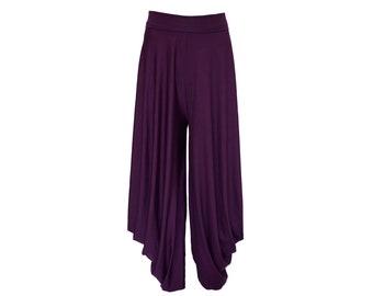 Loose pants/ Baggy pants/ plus size drop crotch pants/ loose boho pants/ harem pants/ wide leg yoga pants hippy festival pants yoga pants