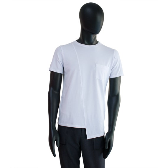 Herren AsymmetrischeEtsy Weiße Shirt Herren T AsymmetrischeEtsy Herren Weiße Shirt Weiße T 4LScRq35jA