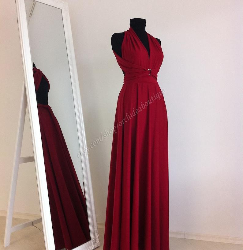 441b951e35 Maxi Dress Wedding Dress Wrap Convertible Dress Bridesmaid