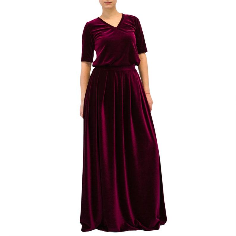 c92cfd286d954 VELVET maxi skirt  black maxi skirt  long skirt  women skirt