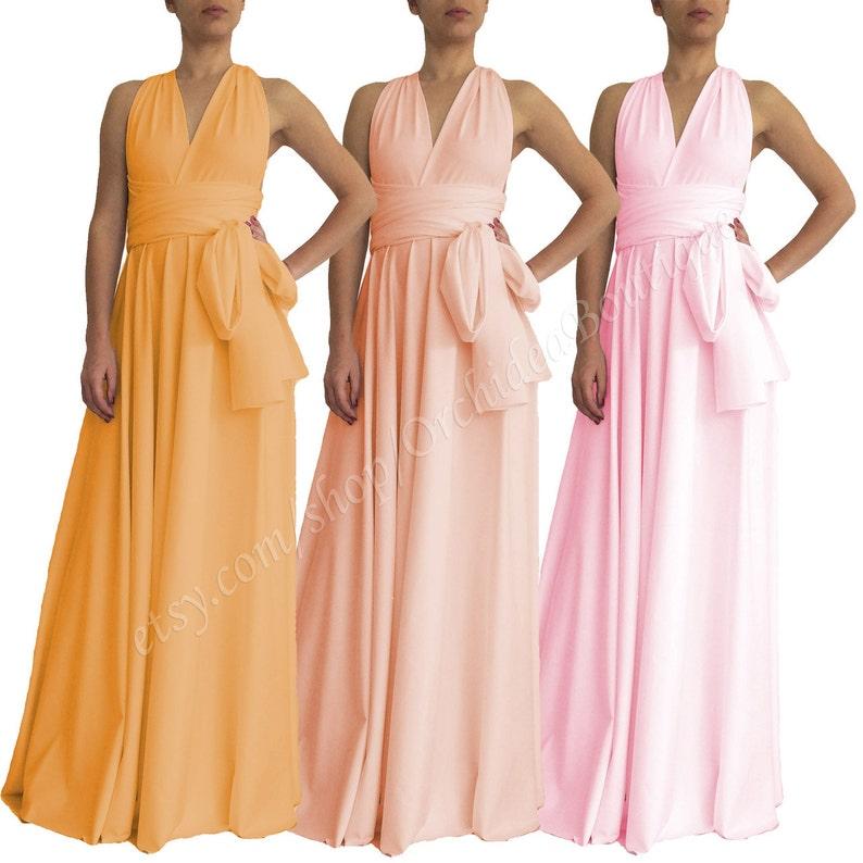 4f6b12df9d Convertible dress  evening wrap gown  pink maternity dress