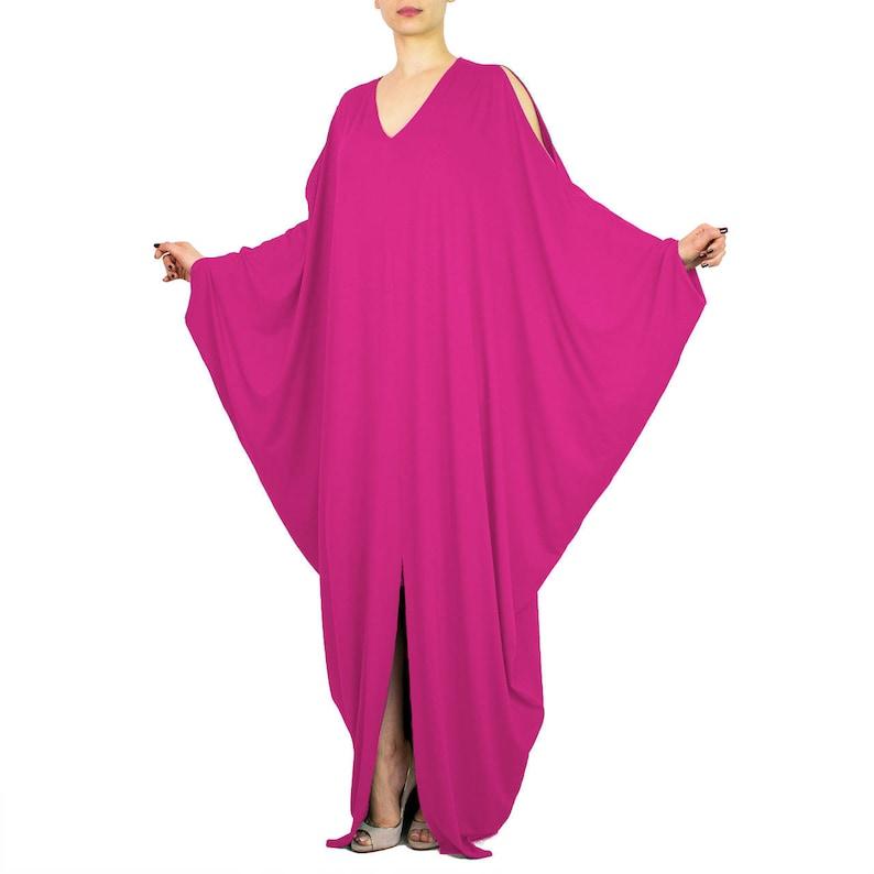 Pink maternity dress/ pregnancy maxi dress/ Hot pink dress/ | Etsy