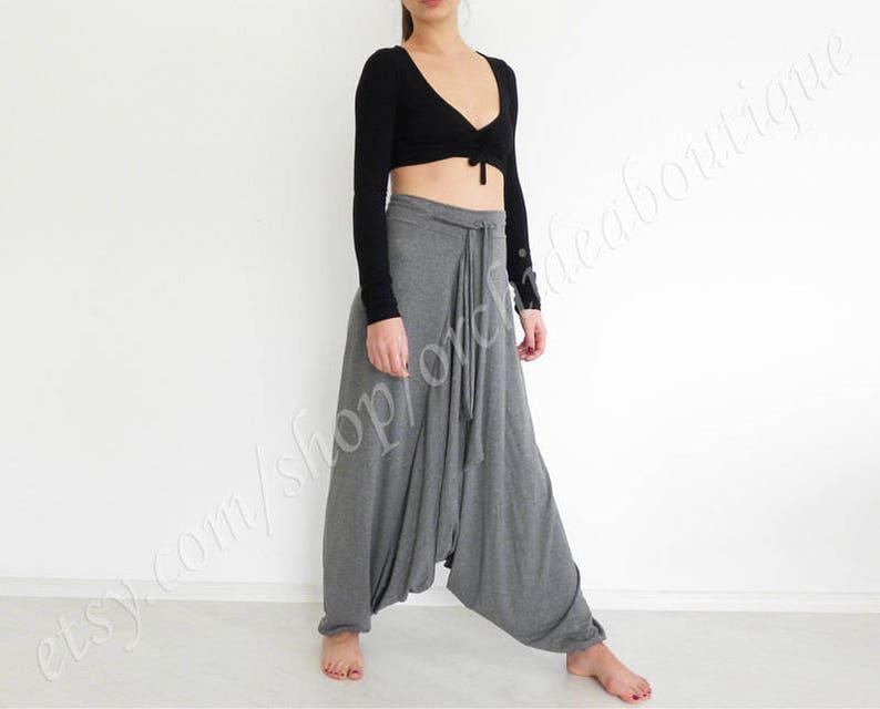 fc4be69c298 Harem pants jumpsuit drop crotch pants plus size pants yoga
