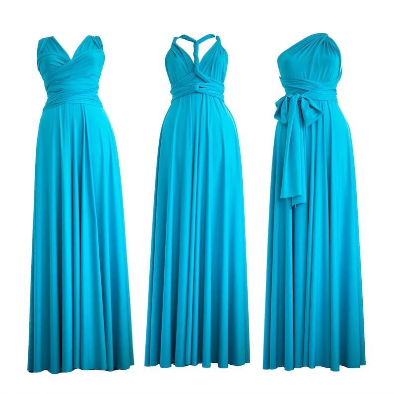 ca762432e6 Long infinity convertible dress  evening blue dress  backless