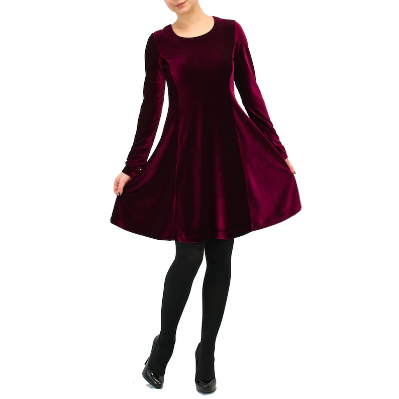 3851cd4ef3f Velours rouge bordeaux robe   soirée sexy robe   cocktail