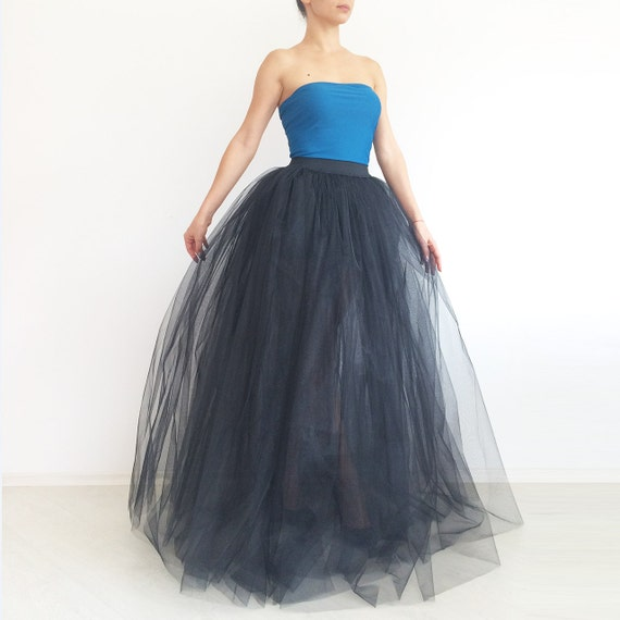 2c9d91db71965 Tulle skirt. Tulle maxi skirt. Black tulle skirt. Princess