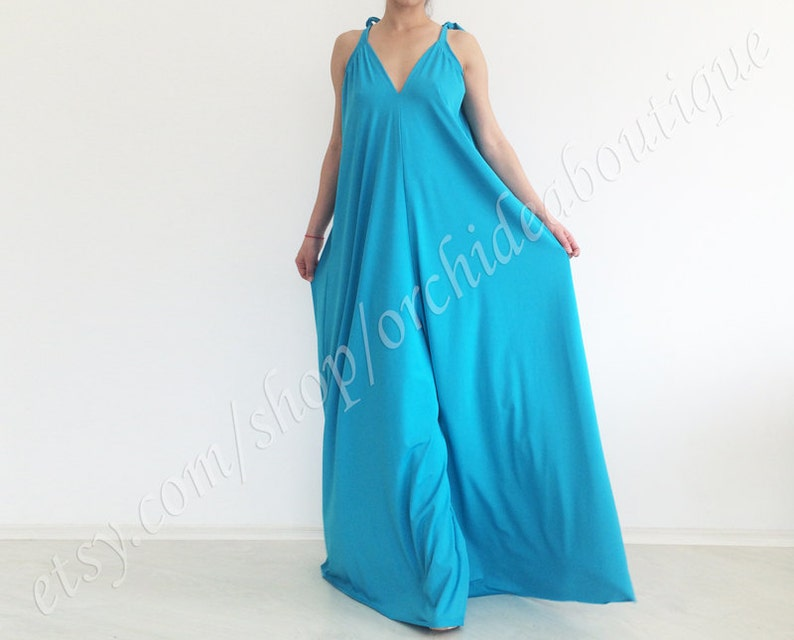 bad5d0644e62 Plus size women jumpsuit ZEPHYR Ocean blues Wide leg light
