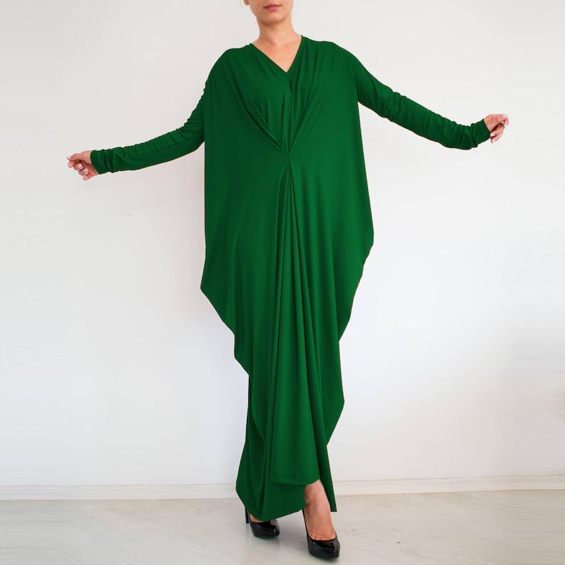 cf78e44fa49 Green maxi dress  Oversized dress  Women maxi dress  loose fit