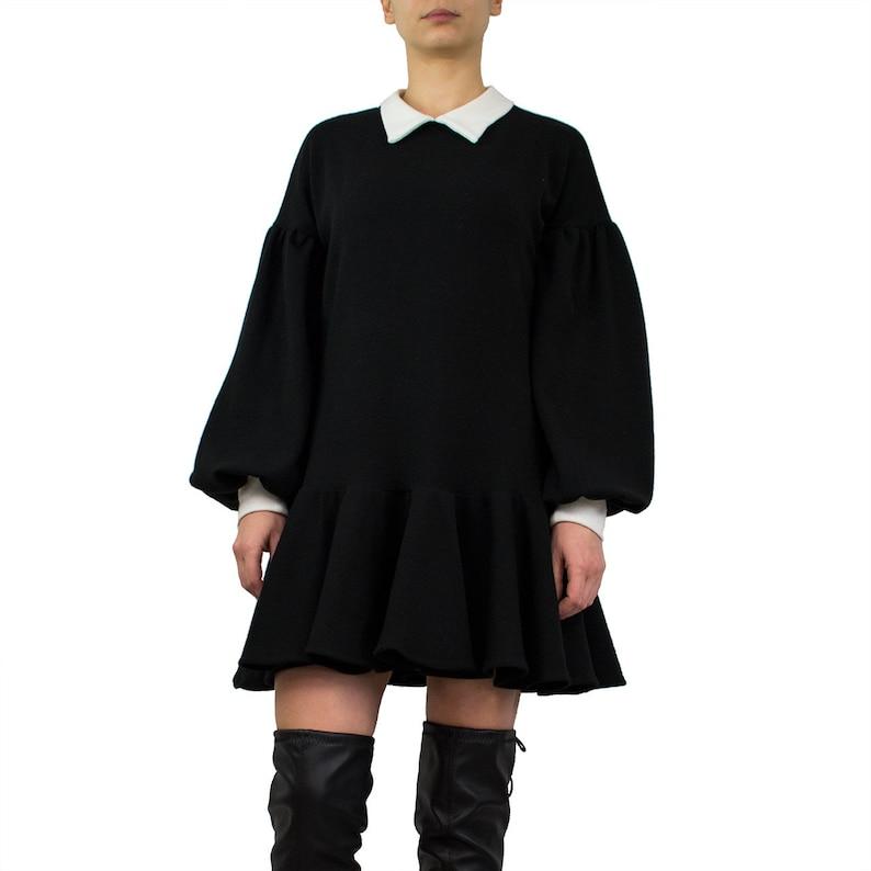 Mini Sweater Little Dress JumperEtsy Black ZiPkXu