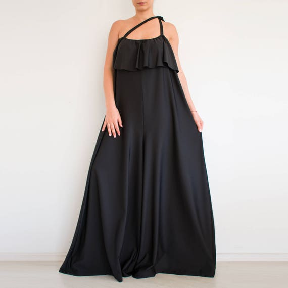 aa9a4505d0e6 Women black jumpsuit  Women loose jumpsuit  maxi jumpsuit