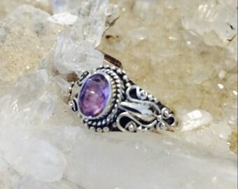 Tibetan styled amethyst ring