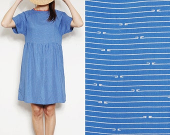 Striped Smock Dress [Running Clouds]