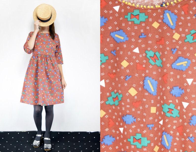 Empire Flannel Dress