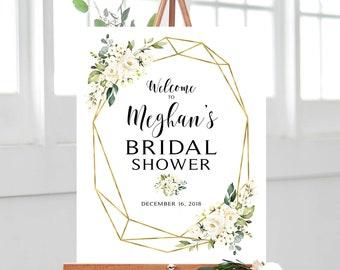 bridal shower welcome sign etsy