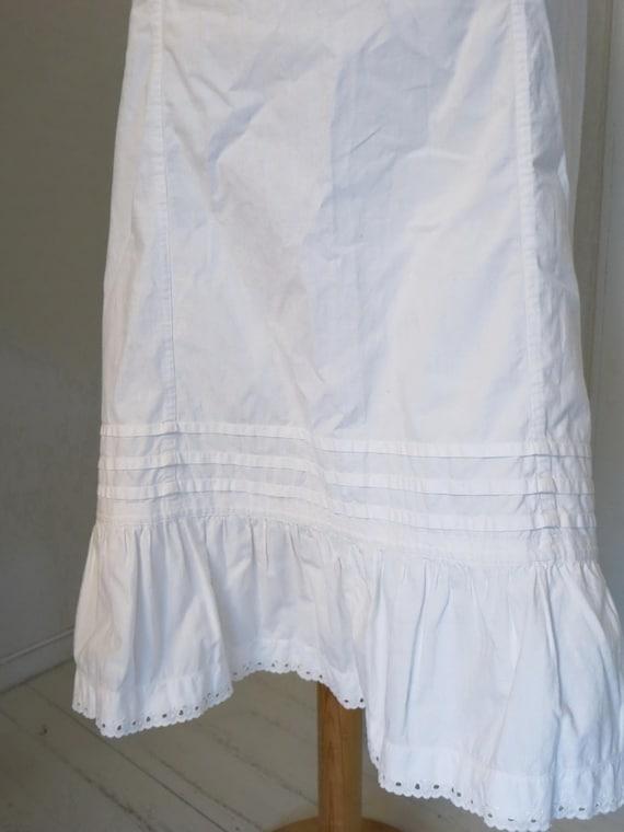 Antique Edwardian Victorian Skirt Petticoat slip c