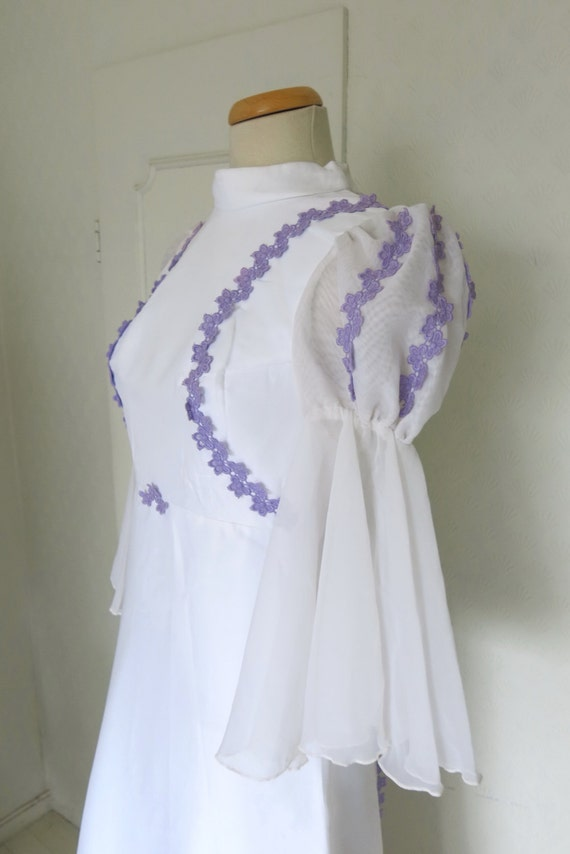 Vintage fairy wedding dress  with train - Medeival