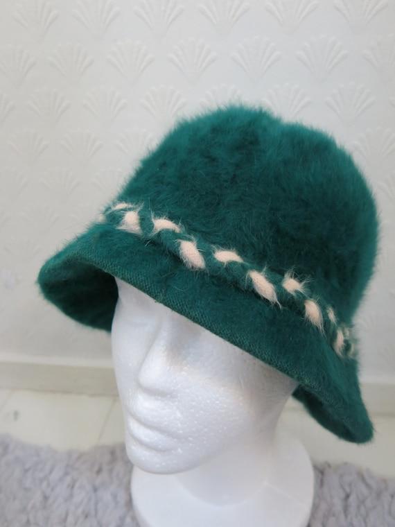 Green 60s does 20s Wool hat Kangol Bucket hat